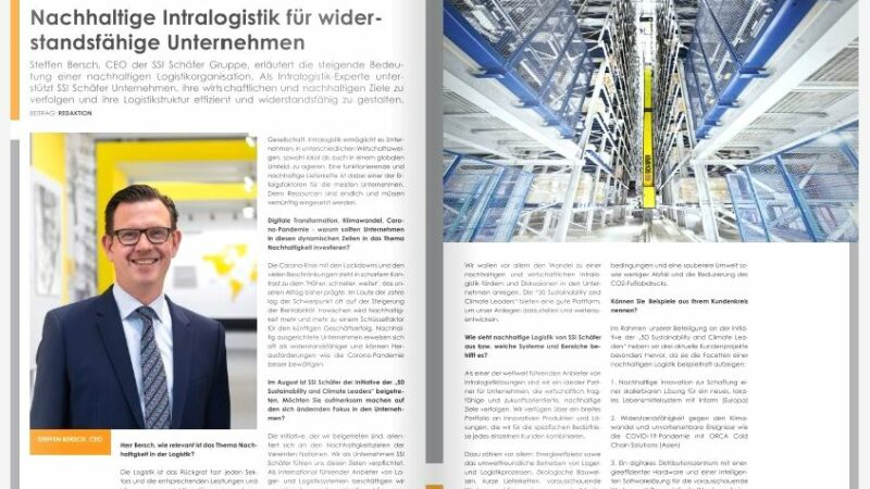 Nachhaltige Intralogistik für widerstandsfähige Unternehmen